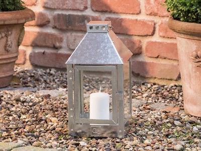 A2 Living Allwetter Laterne Mini verzinkt 34 cm Metall Outdoor wetterfest