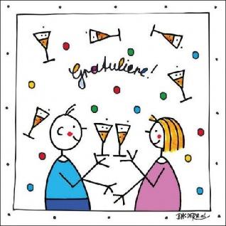 Ambiente Servietten GRATULIERE Weiß Glückwunsch Geburtstag Feier Party 20 stk 33