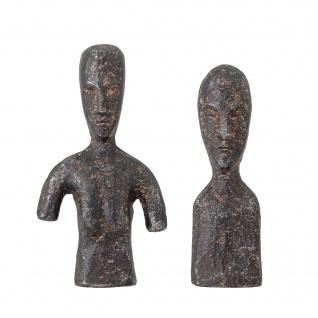 Bloomingville Deko Figur RHEA Braun Skulptur Metall 2er Set Büste