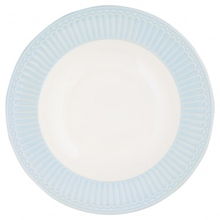 Greengate Tiefer Teller ALICE Blau Suppenteller Everyday Geschirr PALE BLUE