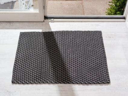 Pad In / Outdoor Matte POOL grau schwarz 72x92 Fussmatte Badezimmermatte Teppich