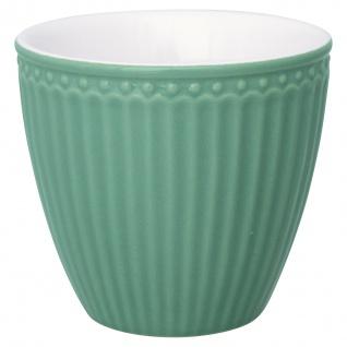 Greengate Latte Cup Becher ALICE Dunkelgrün Everyday Geschirr DUSTY GREEN 300 ml