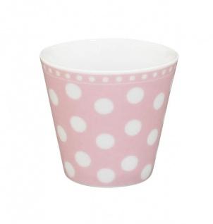 Krasilnikoff Espresso Tasse PUNKTE Rosa mit weißen Punkten Porzellan pink weiß
