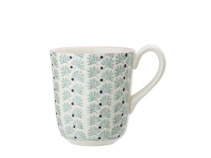 Bloomingville Becher MAYA türkis Keramik Geschirr Tasse 360 ml Kaffeebecher