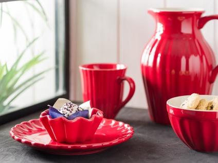 IB Laursen MYNTE Becher Rillen Rot STRAWBERRY Keramik Geschirr Tasse 250 ml - Vorschau 2