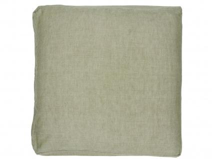 IB Laursen Sitzkissen Staubig Grün Kissenhülle 45cm Kissenbezug Baumwolle