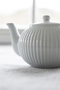 IB Laursen MYNTE Teekanne Weiß Keramik Kanne pure white 1 Liter Geschirr - Vorschau 3