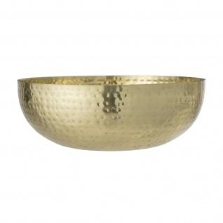 Bloomingville Schale Gold 36 cm Deko Schüssel Metall Servierschale Snacks 9L