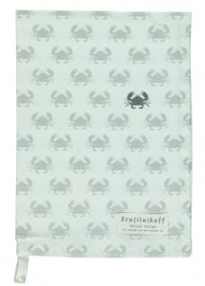 Krasilnikoff Geschirrtuch CRAB Weiß Baumwolle 50x70 Geschirrhandtuch Krebse