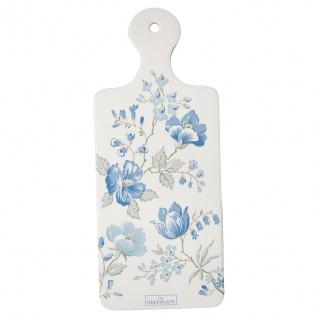 Greengate Untersetzer DONNA Weiß Blumen Porzellan Geschirr Schneidebrett 12x29cm