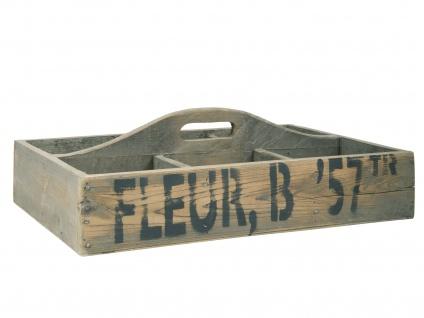 IB Laursen Kiste mit 6 Fächern und Griff 54 cm Aufbewahrungskiste Ordnungsbox