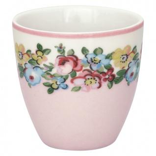 Greengate MINI Latte Cup MADISON Weiß mit bunten Blumen Espresso Tasse 130 ml