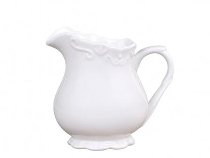 Chic Antique Milchkännchen PROVENCE Porzellan Geschirr Weiß 200 ml Sahnekännchen