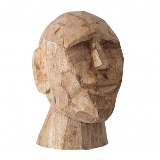 Bloomingville BÜSTE Skulptur Braun Gesicht Deko Figur Mango Holz geschnitzt 24cm