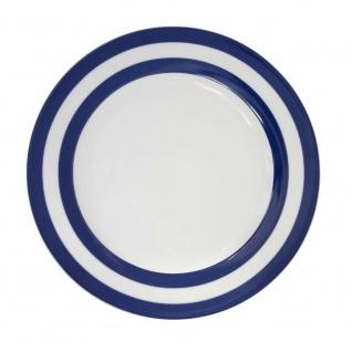 Krasilnikoff Essteller STREIFEN Dunkelblau Teller blau weiß gestreift Porzellan