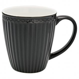 Greengate Becher ALICE Grau 400 ml Kaffeebecher Everyday Geschirr DARK GREY