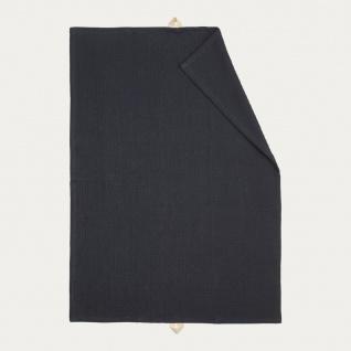 Linum Geschirrtuch AGNES Schwarz Baumwolle 50x70 cm Handtuch Waffelstruktur