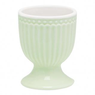 Greengate Eierbecher ALICE Grün 6.5 cm Keramik Everyday Geschirr PALE GREEN