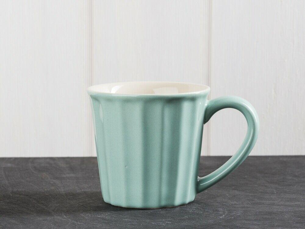 Ib Laursen Tasse mit Henkel Herzen grau Kaffeetasse Keramik dänisch Design