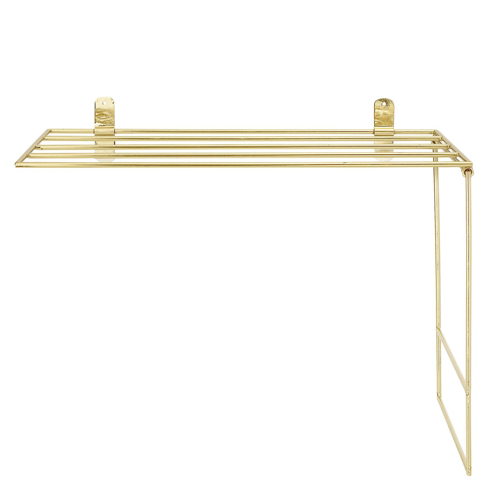 Bloomingville Handtuch Halter Gold Deko Metall 30x50 Cm