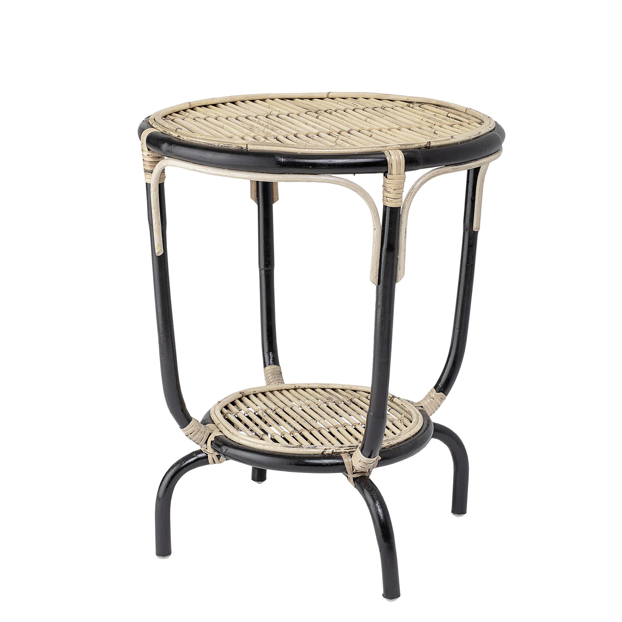 Tisch Rund 50 Cm.Bloomingville Beistelltisch Aliana 50 Cm Rattan Natur Schwarz Tisch Rund 60 Hoch