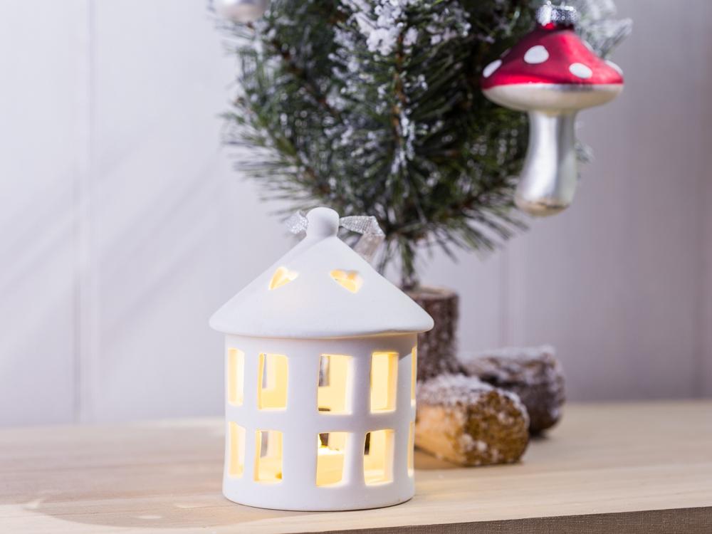 Led Weihnachtsdeko Fenster.Tannenbaum Schmuck Haus Mit Led Licht Rund Weihnachtsdeko Fenster Deko