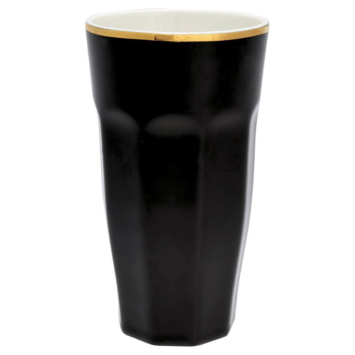 Greengate French Latte Becher Schwarz Gold Porzellan Goldrand Geschirr 400 Ml Kaffeetassen Becher Mobel Wohnen Dentalmed Rs