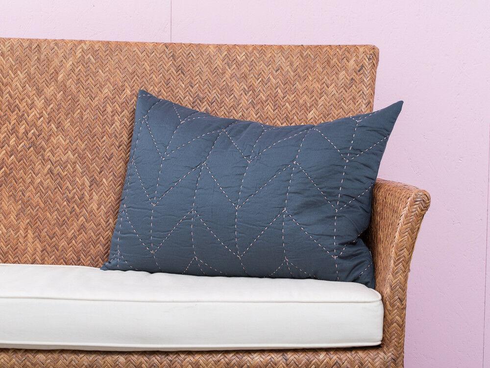 A Simple Mess Kissenhülle Molly Dunkelblau Baumwolle Kissenbezug 40x60 Blau