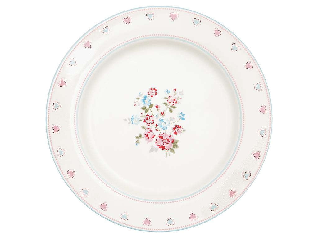 Greengate Essteller Sonia Weiss Rot 26 Cm Porzellan Teller Geschirr Blumen Kaufen Bei Wohnhaus Welten