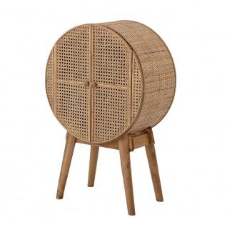 Bloomingville Schrank OTTO Cabinet Möbel Rund Regal Rattan Holz 51x80 cm