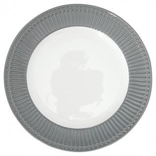 Greengate Teller ALICE Grau 26.5 cm Essteller Everyday Geschirr STONE GREY