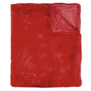 Pad Decke SHERIDAN Felldecke Rot Kuscheldecke Wohndecke 140x190 Kunstfell
