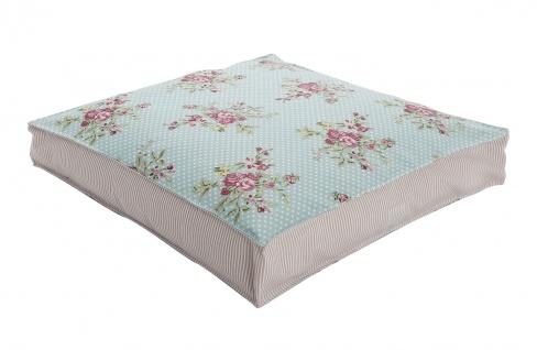 AU Maison Sitzkissen Flora Blumen / Streifen Rose 45x45 Stuhlkissen mit Füllung