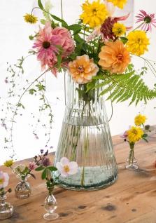 Affari Windlicht Laterne ANJA Weiß 38 cm Glas Klar Deko Gartenlaterne Tischdeko