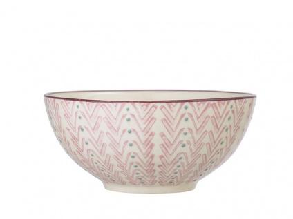 Bloomingville Schale MAYA Keramik Schüssel 650ml Geschirr Müslischale creme rosa