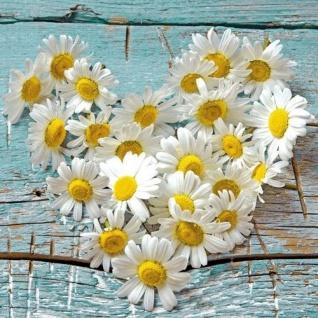Ambiente Servietten HEART OF DAISIES Margeriten Herz weiß Blumen 20 Stck 33x33