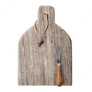 Bloomingville Schneidebrett KANI mit Messer 20x30 cm Servierbrett Tapasbrett