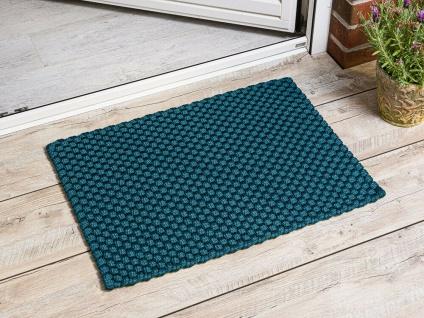 PAD Fussmatte UNI PETROL 52x72 Matte Outdoor Teppich Pad Concept Badematte Blau