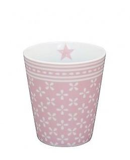 Krasilnikoff Becher Happy Mug DAISY Rosa Tasse Porzellan Kaffeebecher