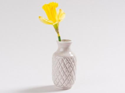Vase BEA Grau Blumenvase Keramik 10 cm Vase klein - Vorschau 2
