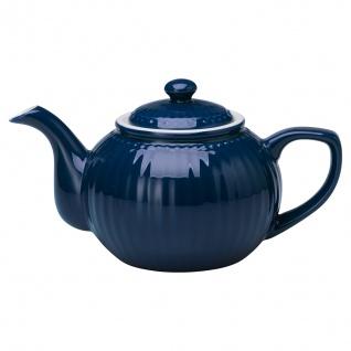 Greengate Teekanne ALICE Blau Kanne 1 Liter Everyday Geschirr Teapot DARK BLUE
