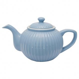 Greengate Teekanne ALICE Blau Kanne 1 Liter Everyday Geschirr Teapot SKY BLUE