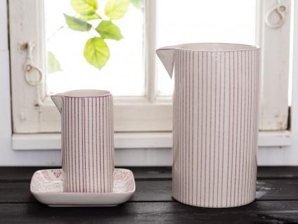 IB Laursen Kanne Casablanca lila weiß 0.2 Liter Streifen Geschirr Milchkännchen - Vorschau 5