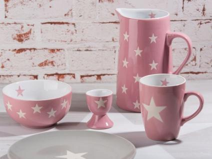 Krasilnikoff Krug BRIGHTEST STAR Rosa Kanne pink Sterne weiß Karaffe 1.25 L - Vorschau 4