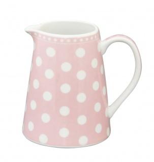 Krasilnikoff Milchkännchen PUNKTE Rosa Porzellan Sahnekännchen pink weiß gepunkt