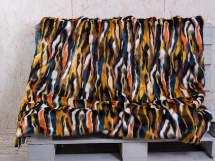 PAD Decke COLORADO Multi Color Felldecke Wohndecke Kuscheldecke pad concept
