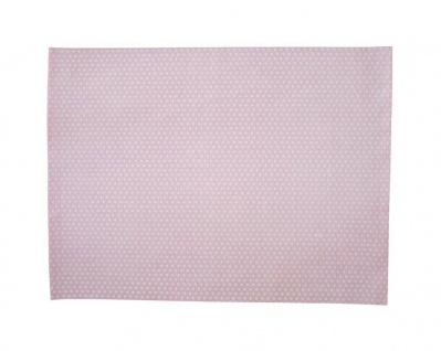 Krasilnikoff Tischset PUNKTE Rosa Baumwolle Platzset Pink Weiß gepunktet
