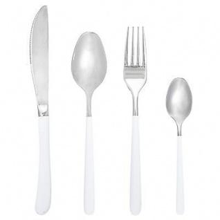 Bloomingville Besteck weiß/chrom 4-tlg rostfreier Stahl Messer. Gabel. Löffel. T