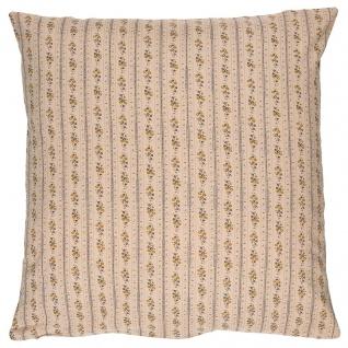 IB Laursen Kissenhülle Hellbraun mit Blumen Kissen 50x50 Kissenbezug Baumwolle