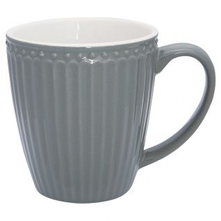 Greengate Becher ALICE Grau 400 ml Kaffeebecher Everyday Geschirr STONE GREY